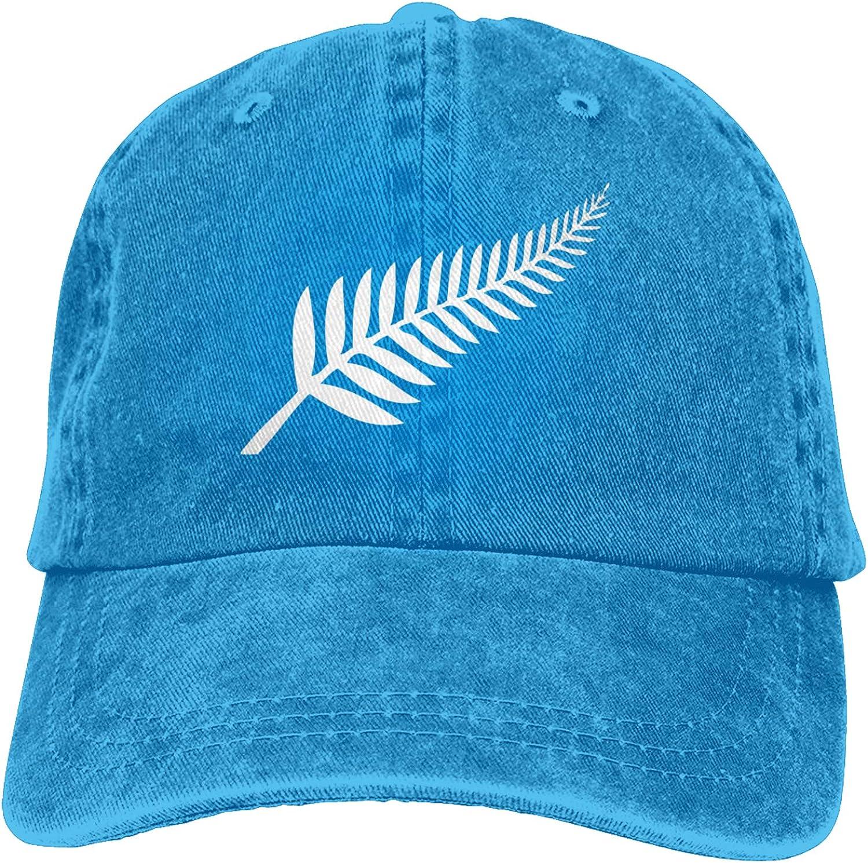 Denim Cap New Zealand Maori Fern Baseball Dad Cap Classic Adjustable Casual Sports for Men Women Hat