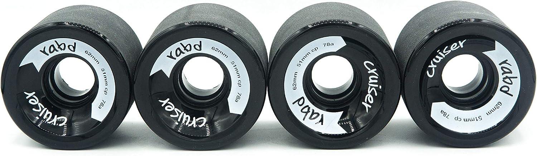 rabd Longboard Skateboard Wheels 62mm 78a Cruiser Formula Black//Gold//White