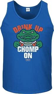 Florida Football Fans. Drink Up Chomp On. Royal T-Shirt (Sm-5X)