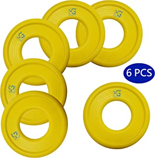 Macro Giant 9 Inch Soft Foam Frisbee Flying Discs, Assorted Colors, Playground, Kid Sports Toy, Ring Toss Game, Parenting Activity, Outdoor Indoor, Camp Game