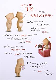 Our Anniversary Card from Hallmark - Cute Ted & Ginger Design