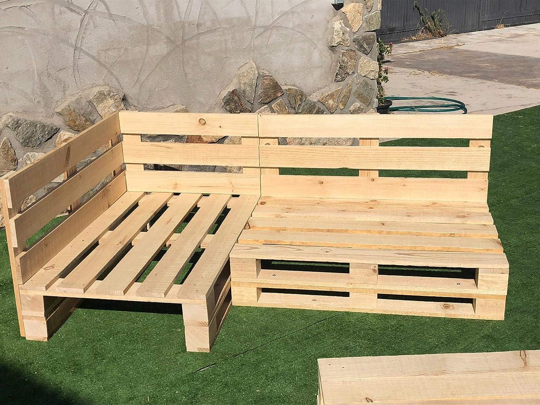tavolo rapporto destro nuovo da estrendere Set angolare con pallet europei 2 m x 1,2 m