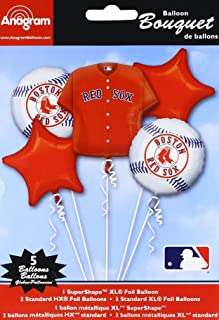Anagram 32038 Boston Red Sox Balloon Bouquet, Multicolored