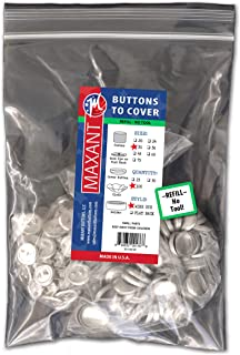 100 Buttons to Cover - Made in USA - Cover Buttons With Wire Eye Backs Size 30 (3/4