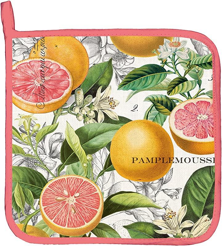 Michel Design Works Cotton Potholder Pink Grapefruit