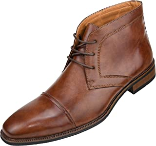 Berino - Original Mens Dress and Casual Boots, Dress Boot, Cap Toe Slip On Ankle Boot, Lace up