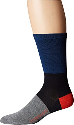 Icebreaker - Lifestyle Ultra Light Crew Rugby Stripe