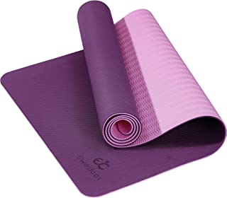 Ewedoos Yoga Mat Non Slip TPE Yoga Mats Exercise Mat Eco...