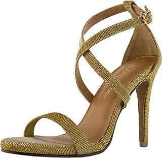 fff59ad23309 DailyShoes Women s High Heel Sandal Open Toe Ankle Buckle Cross Strap  Platform Pump Evening Dress Casual