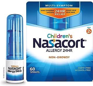 Nasacort Children's Allergy 24HR Nasal Spray, Non-Drowsy & Alcohol-Free, 60 Sprays, 0.37 fl. oz., Blue