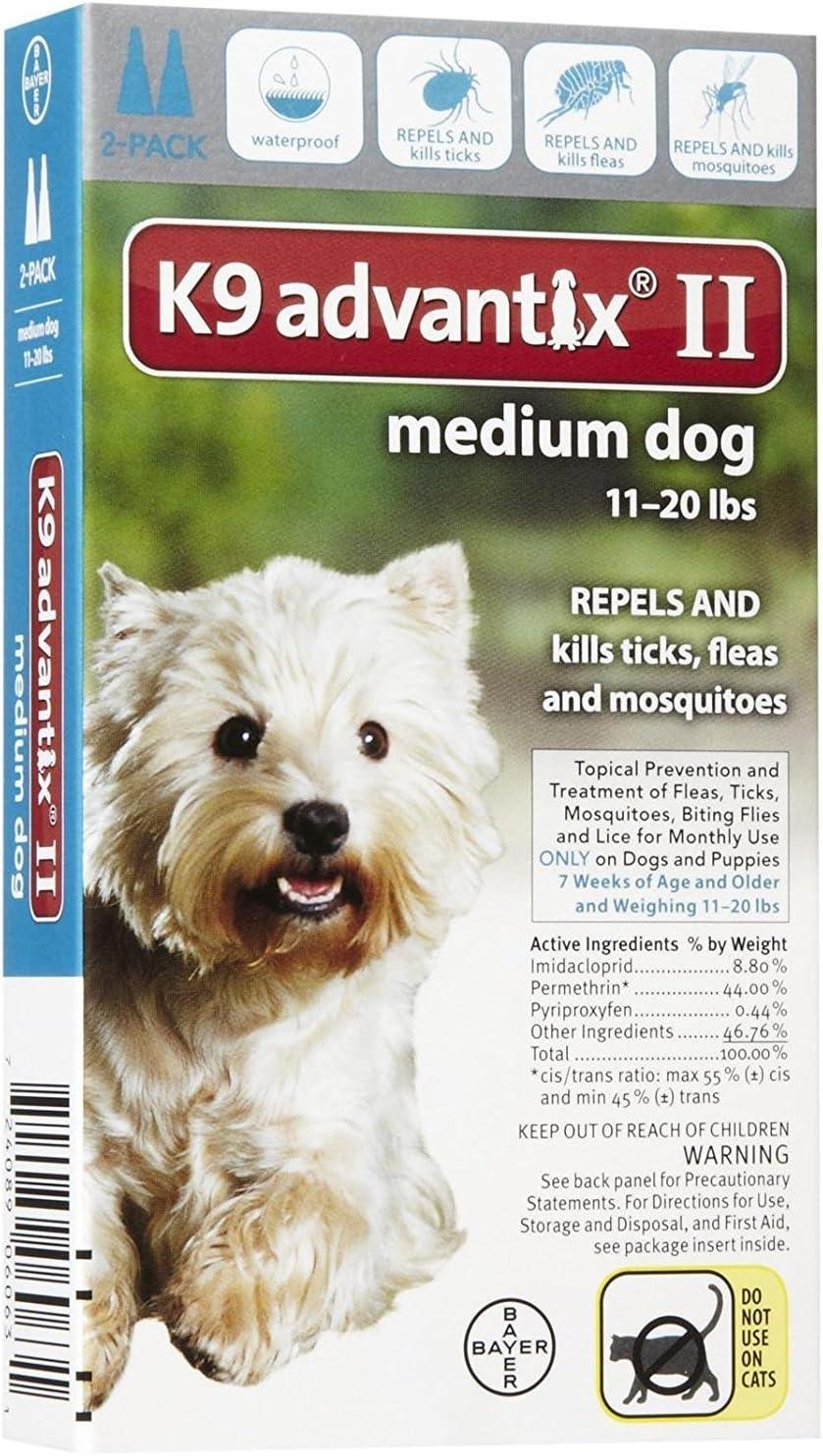 Advantix II Flea Drops Tick and Special price Prevention D Luxury goods Mosquito Medium K9