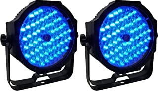 (2) American DJ Mega Go Par64 Plus Battery Powered Par 64 RGB Wash/Stage Lights