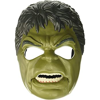 Marvel Toys Thor Ragnarok Hulk Out Mask with Adjustable Strap, Plus Moving Mouth and Eyebrows - Imagine Unleashing the Fury of the Incredible Hulk - Great Halloween Mask Too