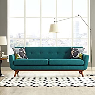 Best teal mid century sofa Reviews