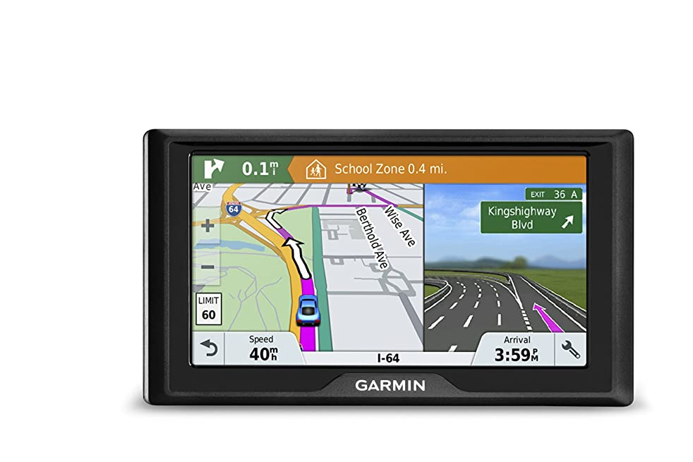 Garmin Drive 51 USA+CAN LM GPS Navigator System with Lifetime Maps, Spoken Turn-By-Turn Directions, Direct Access, Driver Alerts, TripAdvisor and Foursquare Data