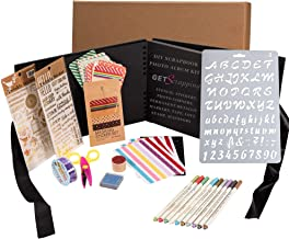 GETScrapping Scrapbook Photo Album DIY Kit, Everything you need to Scrapbook for beginners to experienced. 8x11 Album, Qua...