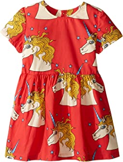 mini rodini - Unicorn Star Woven Dress (Infant/Toddler/Little Kids/Big Kids)