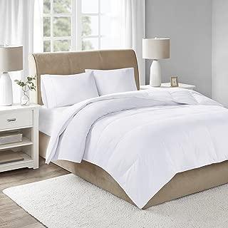 Sleep Philosophy 300 Thread Count Cotton 3M Scotchgard Stain Release White Duck Down Filled Comforter, Full/Queen,