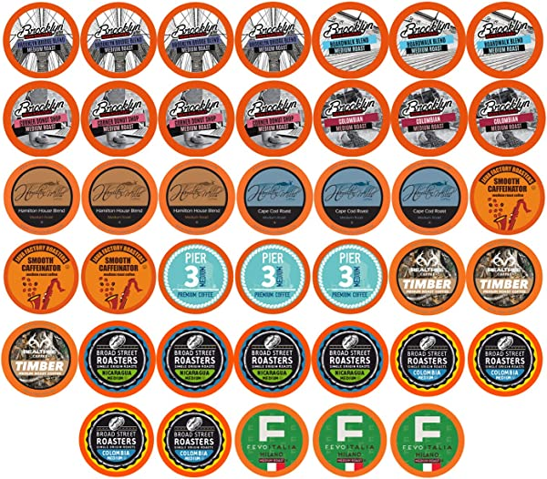 Two Rivers Medium Roast Coffee Pods Compatible With 2 0 Keurig K Cup Brewers Variety Pack 40 Count