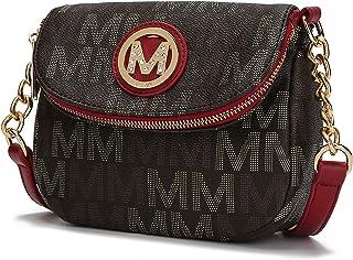 ميا كيه كوليكشن حقائب طويلة تمر بالجسم للنساء - حقيبة يد من الجلد الصناعي - محفظة ماسنجر أنيقة متوسطة الحجم كروس جانبية