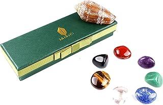 Premium Grade Crystals Healing Chakra Stones, Tumbled Chakra Gemstones for Reiki Healing,Meditation,Energy Crystal Healing...