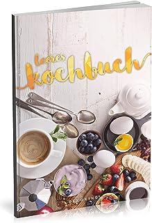 Dékokind® Leeres Kochbuch: Für über 80 Lieblingsrezepte    Ca. A5 Softcover    Rezeptbuch zum Selbstgestalten / Selberschr...