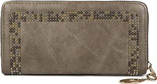 Portefeuille 02040116 styleBREAKER Porte-Monnaie pour Femme avec de Petits Rivets Couleur:Bordeaux-Rouge Fermeture /à glissi/ère