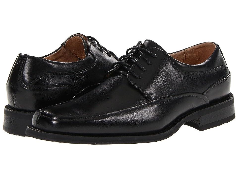 Florsheim Cortland Moc Toe Oxford (Black Buffalo Leather) Men