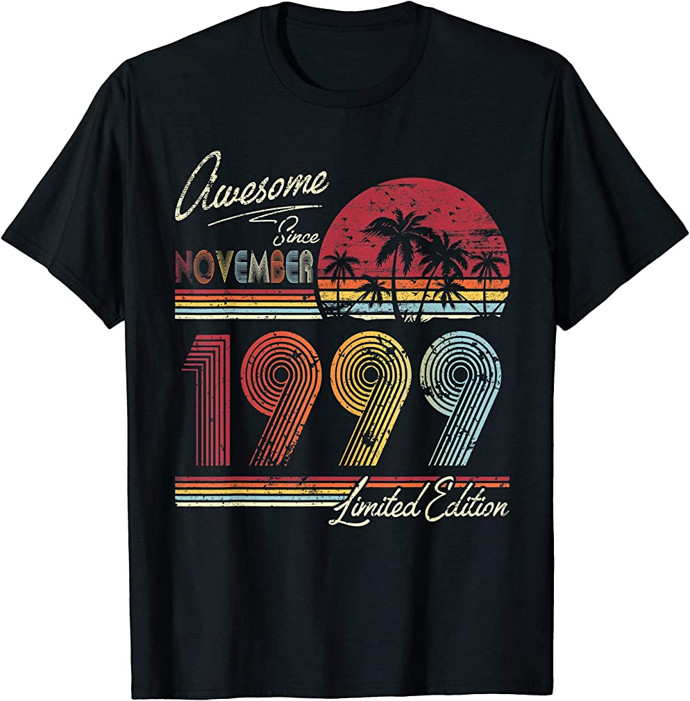 Awesome Since November 1999 20th Birthday Gift 20 Years Old T-shirt