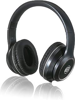 Bresser Kopfhörer Bluetooth Over Ear Headphone mit integrierten Mikrofon für Gaming oder Telefonie, 3.5 Klinkenanschluss und bis zu 8 Stunden Laufzeit, schwarz