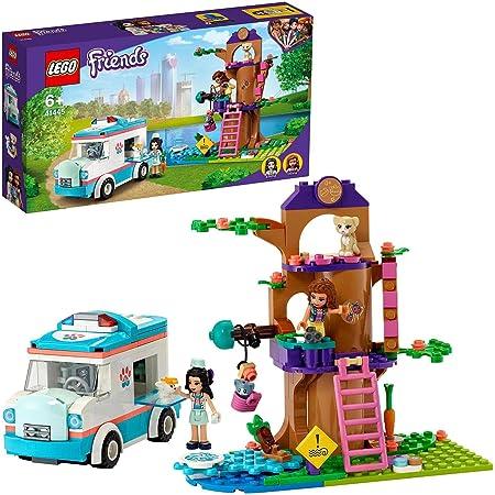 LEGO 41445 Friends L'AmbulancedelaCliniquevétérinaire, Set de Jeu de Sauvetage d'animaux avec Les Minidolls Olivia et Emma