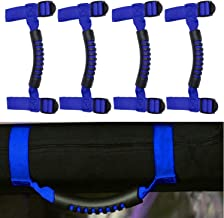 4 x Roll Bar Grab Handles Grip Handle for Jeep Wrangler YJ TJ JK JK JL JLU Sports Sahara Freedom Rubicon X & Unlimited 1955-2018 (Roll Bar Blue)