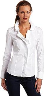 AK Anne Klein Women's Petite Button Front Shirt