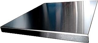 Protector de encimera de acero inoxidable con borde cuadrado