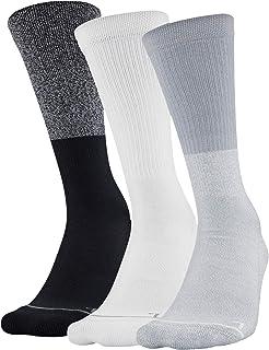 Under Armour womens Phenom 5.0 Solid Crew Socks, 3-pair Socks