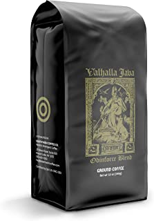Valhalla Java Bagged Coffee Grounds [12 Oz.] World's Strongest Coffee, USDA Certified Organic, Fair Trade, Arabica, Robust...