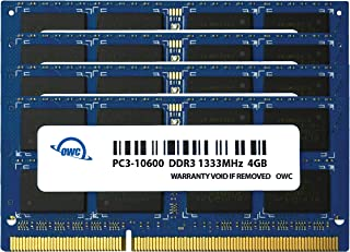 OWC 16.0GB (4X 4GB) 1333MHz 204-Pin DDR3 SO-DIMM PC3-10600 CL9 Memory Upgrade Kit for iMac, (OWC1333DDR3S16S)