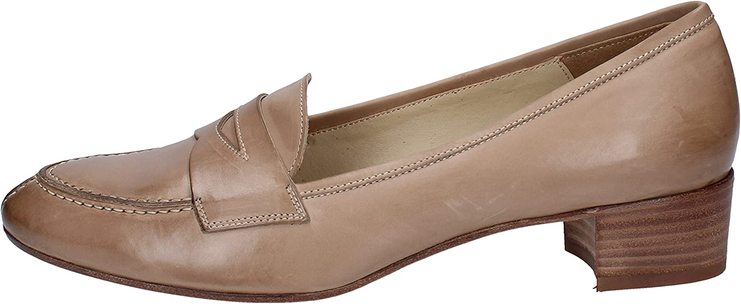CALPIERRE Loafers-shoes Womens Leather Beige