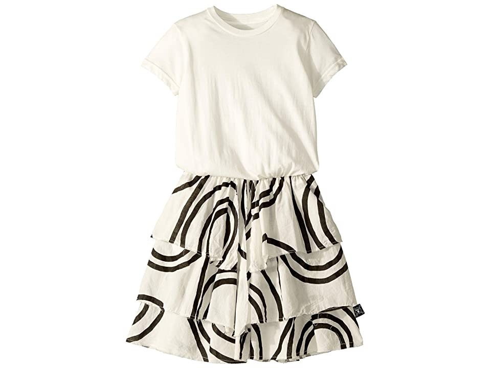 Nununu Layered Circle Dress (Little Kids/Big Kids) (White) Girl