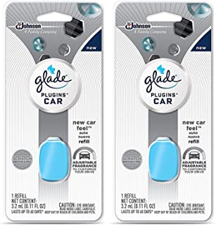 Glade Plugins Car Refill - New Car Feel - Net Wt. 3.2 mL (0.11 FL OZ) Per Refill - Pack of 2 Refills
