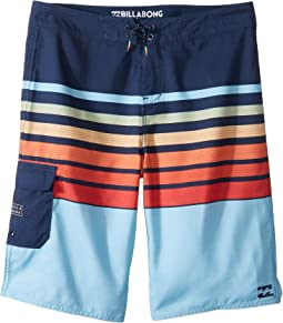 Billabong Kids - All Day OG Stripe Boardshorts (Big Kids)