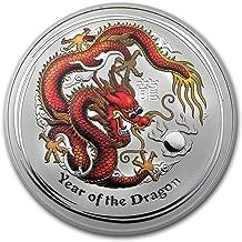 2012 AU Australia 1 kilo Silver Year of the Dragon BU (Colorized) Silver Brilliant Uncirculated