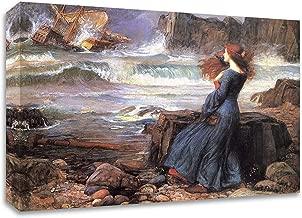 Tangletown Fine Art Miranda The Tempest by John William Waterhouse Print on Canvas, 24