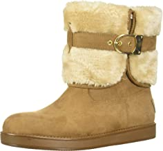 G By Guess Womens Aussie Closed Toe Ankle Cold Weather Boots, Tan, Size 7.5