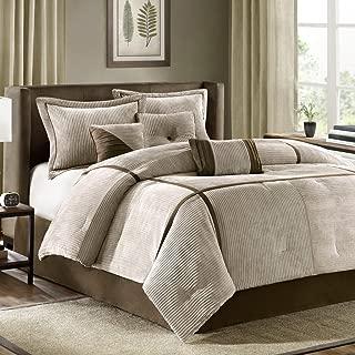 Madison Park Dallas 7 Piece Comforter Set, Cal King, Taupe