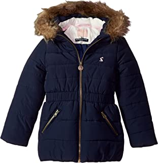 Joules Girls' Belmont Waisted Puffer Coat