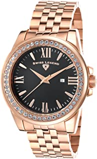 Swiss Legend Women's 10551-RG-11 Allure Analog Display Swiss Quartz Rose Gold Watch