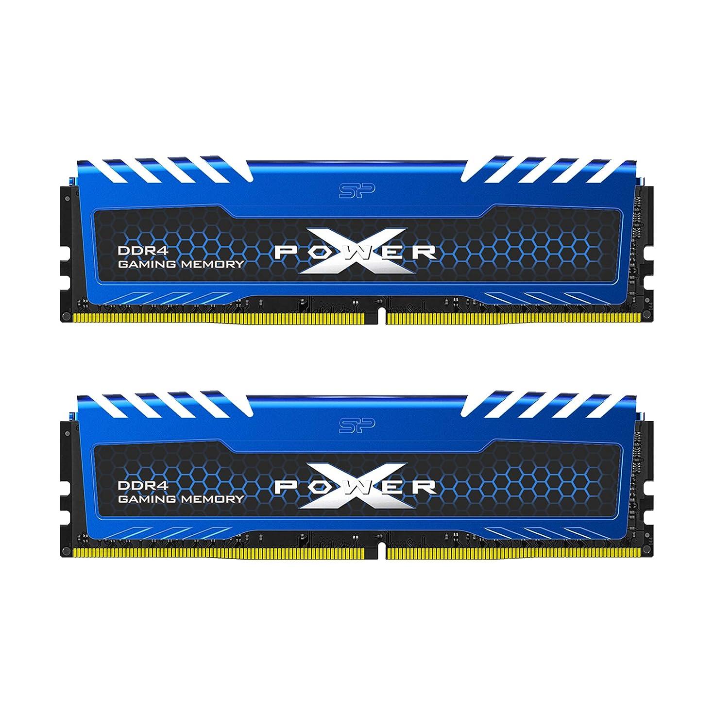 Silicon Power 16GB (8GBx2) XPOWER Turbine Gaming DDR4-RAM-2666MHz (PC4 21300) 288-pin CL16 1.2V Non ECC Unbuffered UDIMM-Desktop Memory Module - Low Voltage