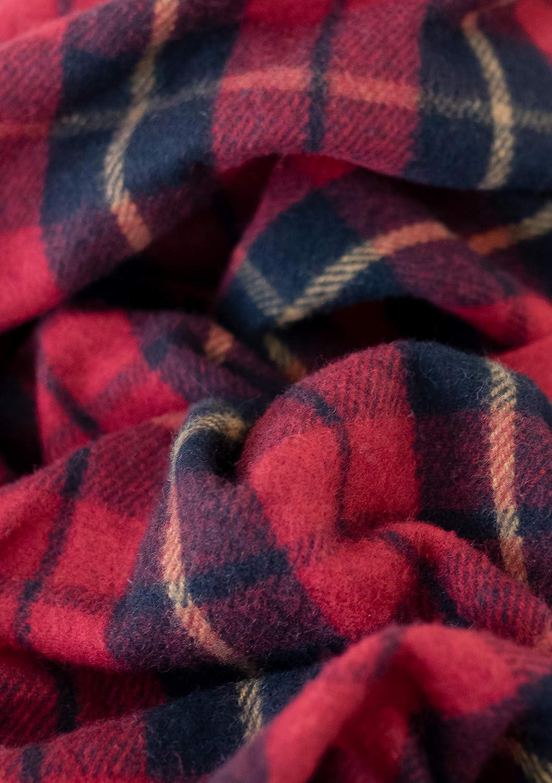 The Tartan Blanket Co. Couverture recyclée en Laine – Style Tartan écossais Mackellar Wallace