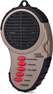 Cass Creek Ergo Crow Call, Handheld Electronic Game Call, CC065, Compact Design, 5 Calls In 1, Expert Calls for Everyone